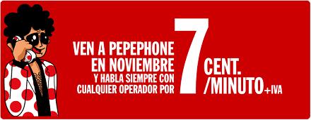 Nueva tarifa de 7 céntimos/minuto con Pepephone