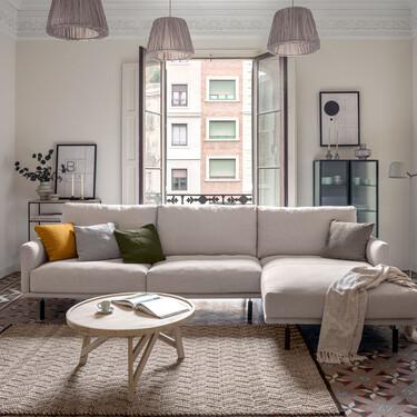 La nuevas piezas de Kave Home lucen así de bien en un piso modernista del Eixample de Barcelona