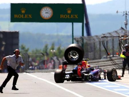 El equipo Red Bull multado por liberación insegura. Paul Allen se recupera