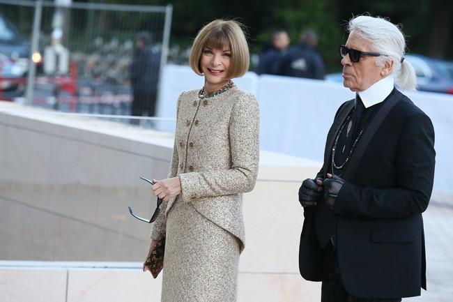 Anna Wintour Karl Lagerfeld Louis Vuitton Fondation