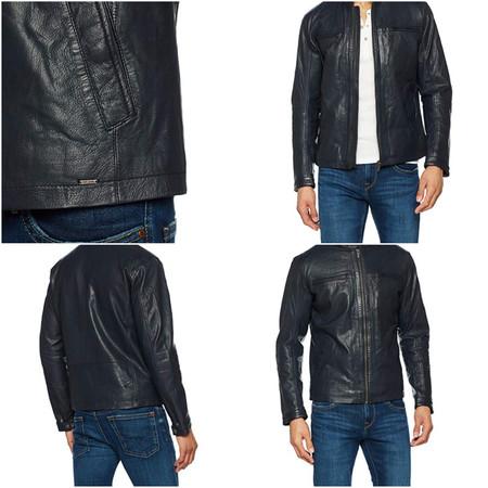 En Amazon tenemos esta chaqueta de cuero Pepe Jeans por 112 euros y envío gratis