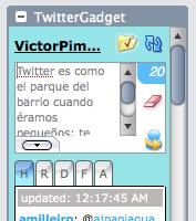 Twitter como gadget de Gmail