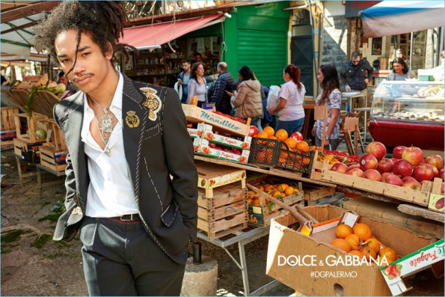 Luka Sabbat 2017 Dolce Gabbana Fall Winter Campaign Suit