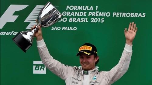 Nico Rosberg triunfa en el GP de Brasil y asegura su segundo lugar en la temporada 2015