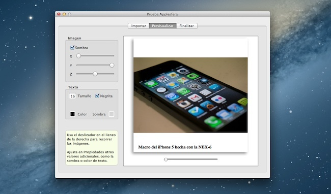 Widgerador crea WIdgets iBook Author previsualización