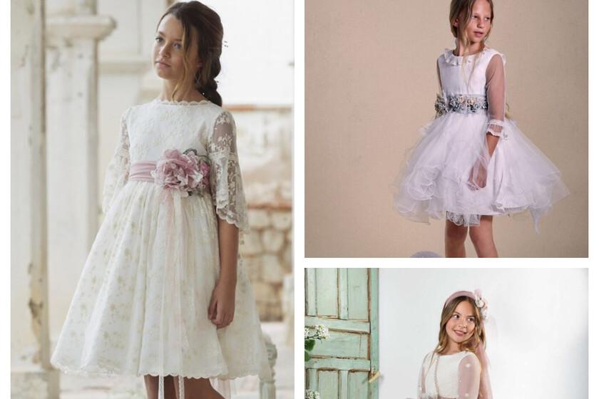 29 vestidos cortos de Comunión para niñas que quieren un traje elegante y original