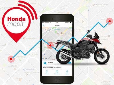 Lo último de Honda no tiene ruedas: Mapit, conexión moto-persona para evitar robos por menos de 50 euros