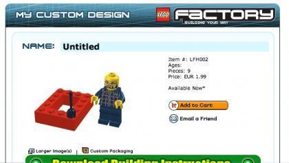 Modelo listo para su compra en la web de lego