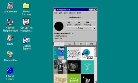 Así sería Instagram si hubiese existido en la era de Windows 95