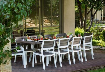 Conjuntos de comedores para terrazas y jardines que puedes comprar por menos de 500 euros