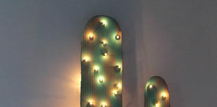 Diy, hazte con un cactus luminoso, ¿por qué no? como alternativa al clásico árbol de navidad