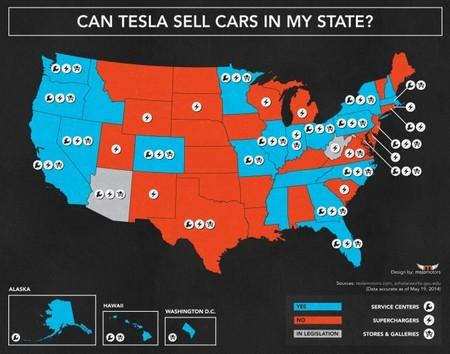 Mapa Tesla-EEUU