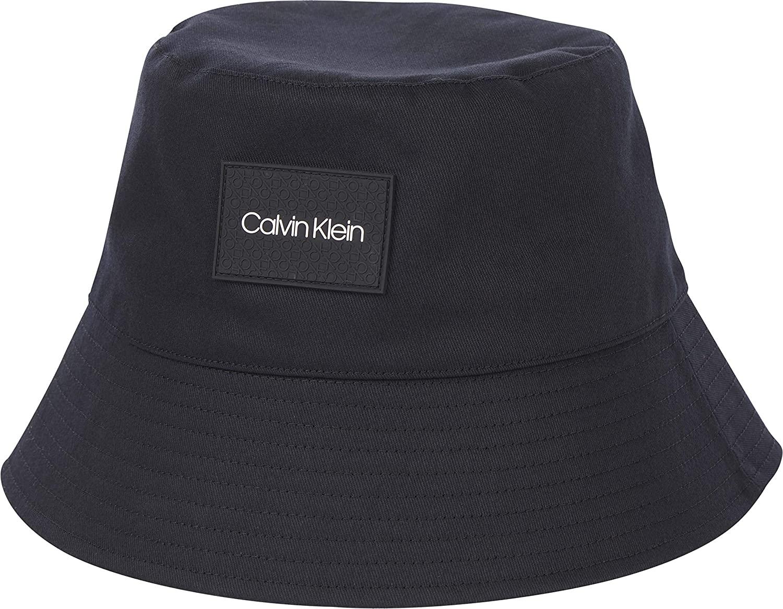 Calvin Klein Bucket Hat Sombrero de Copa Baja, CK Negro, One Size para Hombre