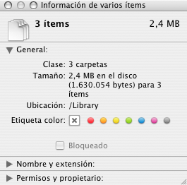 Truco: Ver el tamaño conjunto de una selección de varios archivos