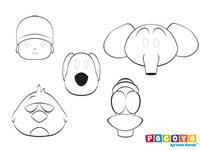 Máscaras gratis de Pocoyó para colorear