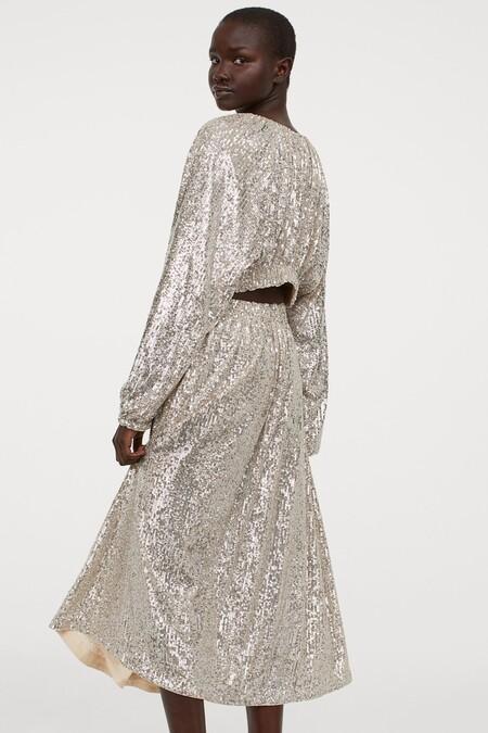Vestido Navidad 2020 Hm Lentejuelas 05