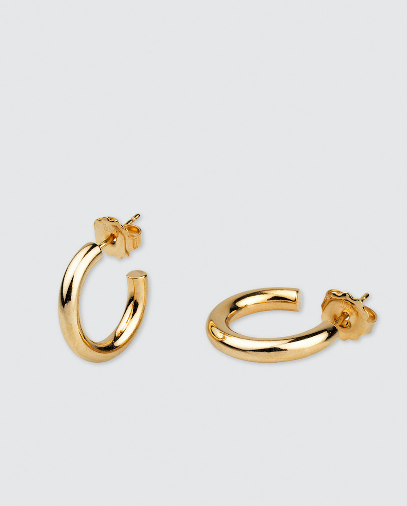 Pendientes Vidal & Vidal de aro chapado en oro