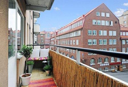 Un balcón pequeño muy bien aprovechado