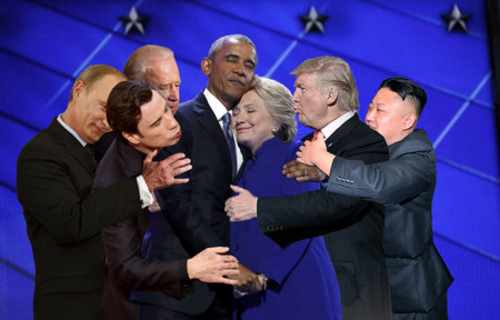 Barack Obama Hillary Clinton Hug Photoshop Battle 10