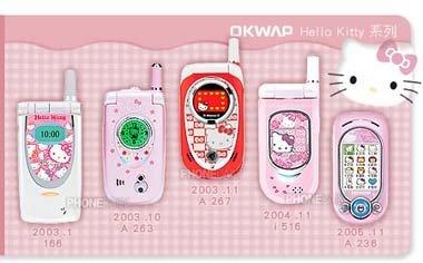 Móviles de Hello Kitty de OKWAP