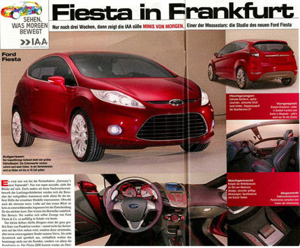 Ford Fiesta Concept, otra imagen filtrada