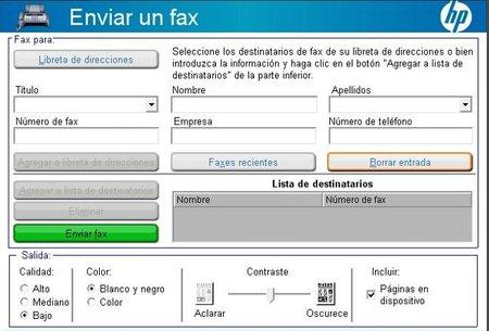 Gestión de Fax de HP