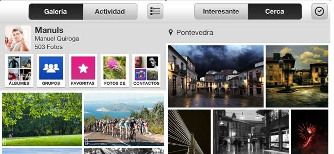 Flickr para iPhone