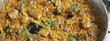 Arroz con presa ibérica y hongos variados, receta para toda la familia