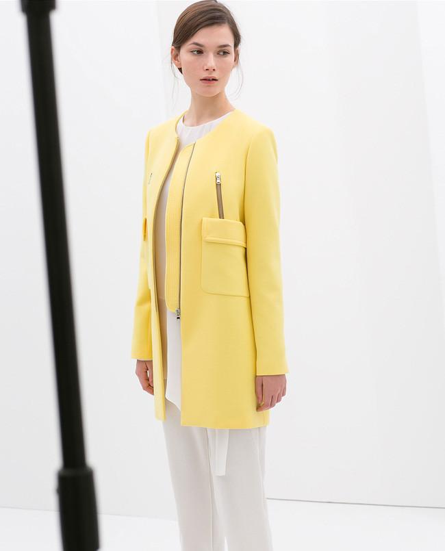 Resultado de imagen para abrigo amarillo