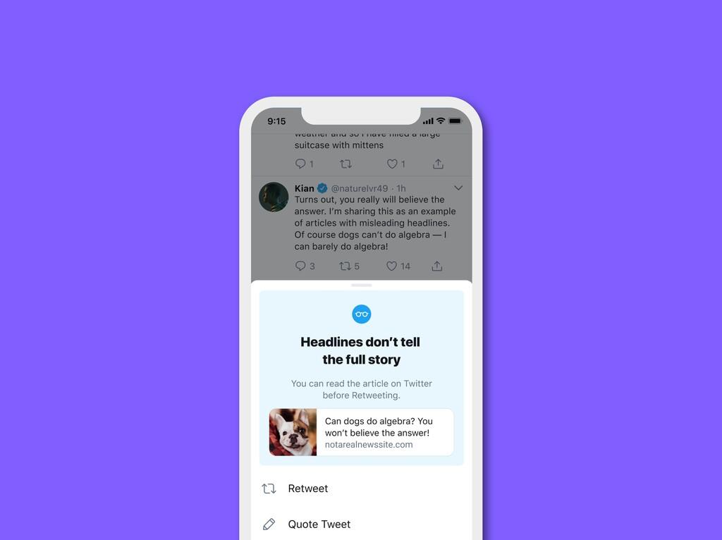 Twitter pedirá que se lean los artículos antes de compartirlos: tras probarlo con algunos usuarios dicen que es efectivo