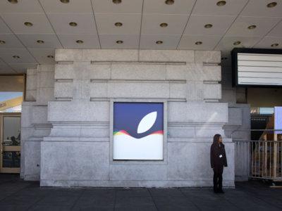 Arrancan los preparativos para la keynote de Apple en el Centro Cívico Bill Graham