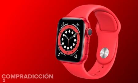 Ahora el de 44mm: Amazon te deja el Apple Watch Series 6 (PRODUCT)RED por 60 euros menos