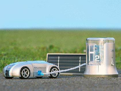 H2 Ecocar, un coche de juguete que funciona con hidrógeno