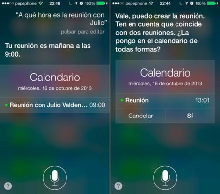 Calendarios en Siri para iOS 7