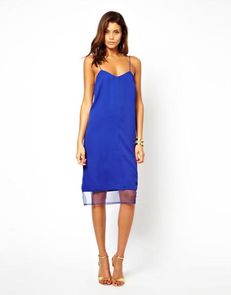 Vestido de color azul de Asos