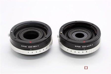 Adaptadores Canon EF para EVIL con anillo de aperturas