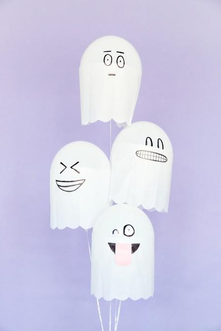 Manualidades Halloween Fantasmas Globos