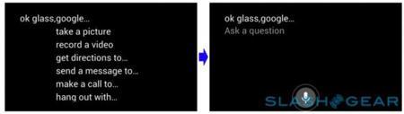 Interfaz de Google Glass 1
