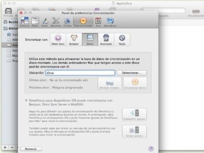 Cómo cambiar la sincronización de Omnifocus de Mobile Me a Omni Sync Server
