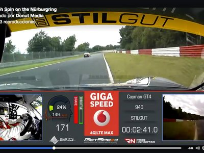 Así se salva un castañazo importante a 230 km/h en Nürburgring con un Porsche Cayman GT4 Clubsport (vídeo)