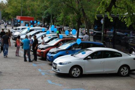 II Marcha vehículo eléctrico en Madrid