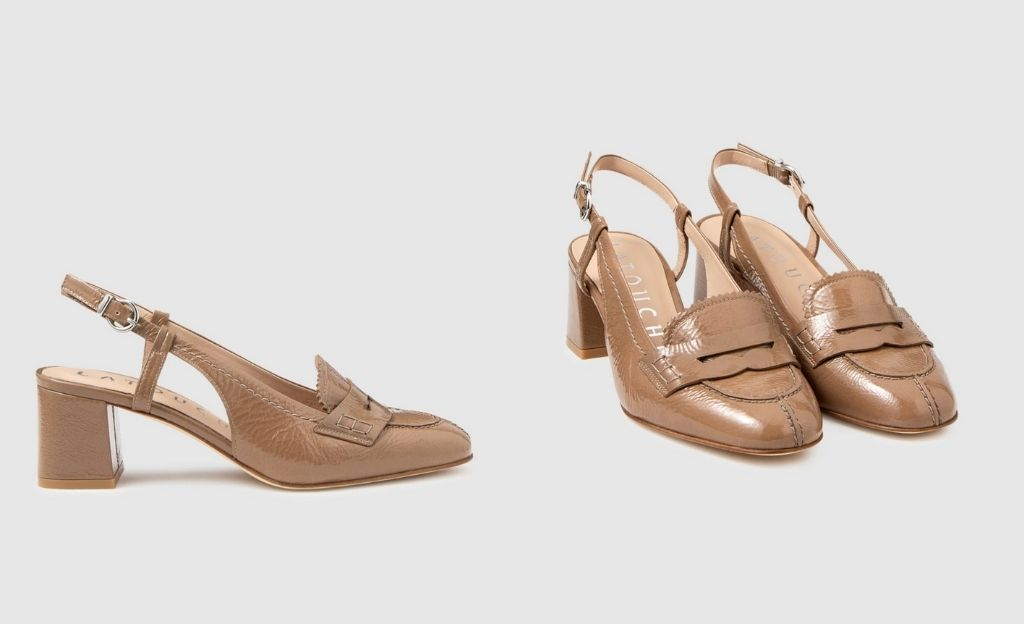 Zapatos de salón de mujer Latouche en piel de color topo