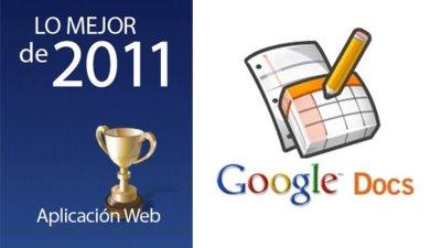 Mejor aplicación web de 2011: Google Docs