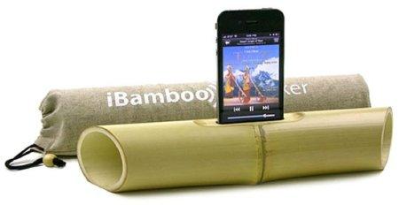 iBamboo, un altavoz de palo para el iPhone