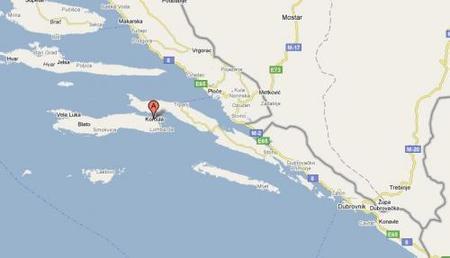 Mapa de Korcula