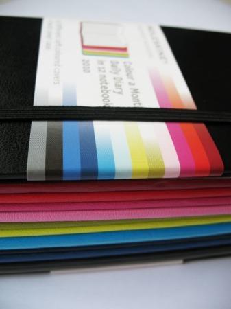 Agenda 2010 de Moleskine en doce diferentes colores