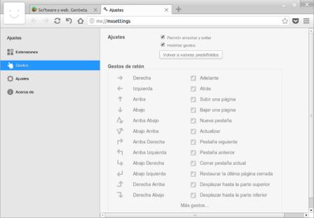 Maxthon for Linux: control de navegación por gestos