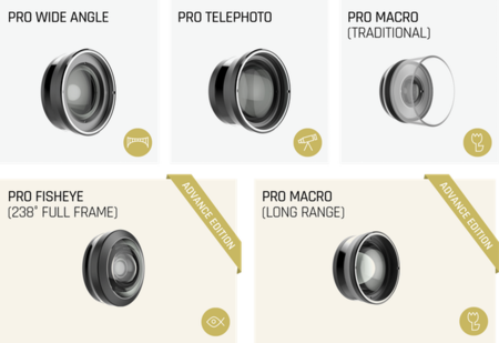 Shiftcam 2 pro lentes