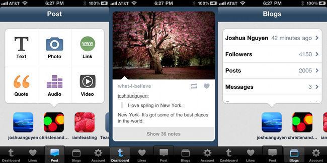 Tumblr 2.0 para iOS