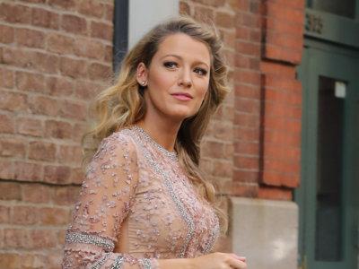 Blake Lively apuesta por un minivestido nude en uno de sus looks premamá más bonitos (ever)
